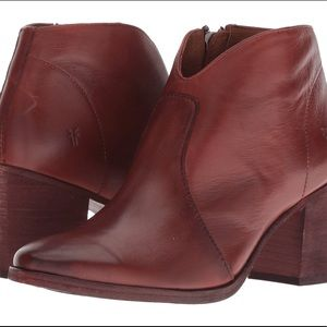 Frye Nora Red Clay Ankle Boots BNIB MSRP $298